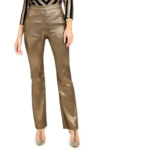 INC Metallic Bootcut Pants